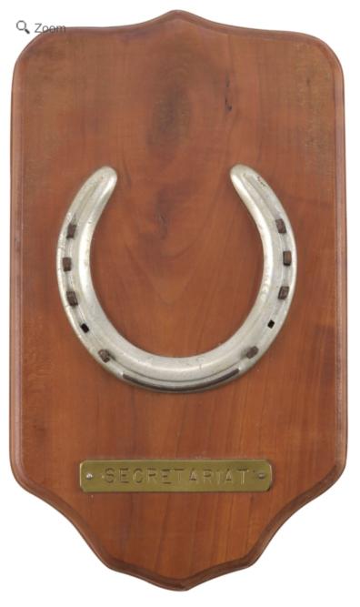 Secretariat Racing Plate