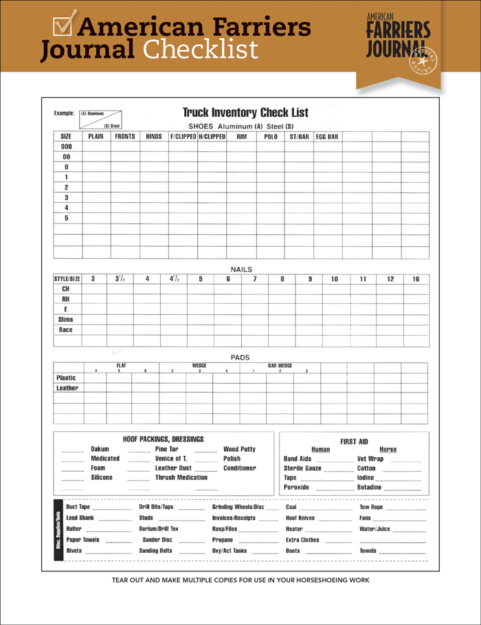 how to do an inventory list