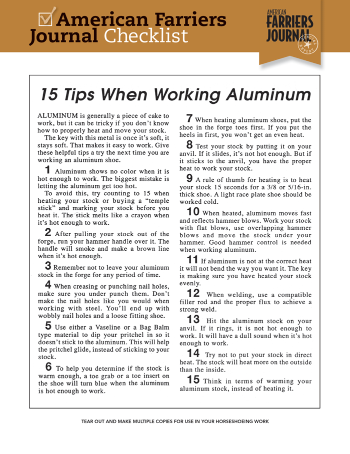 15 Tips When Working With Aluminum