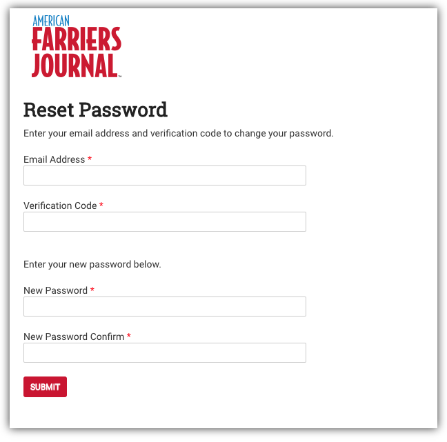 Enter Verification Code Screen