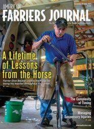 American Farriers Journal cover  September/October 2021 featuring Dick Becker