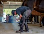 Farrier Lee Olsen establishes boundaries to separate personal and work times.