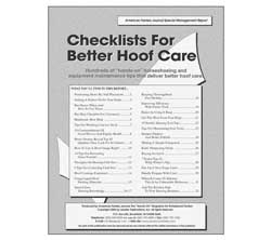 Checklists For Better Hoof Care