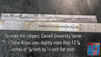 How to Make Golden Ratio Calipers for Farriery