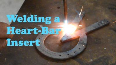 Welding a Heart-Bar Insert in a Horseshoe